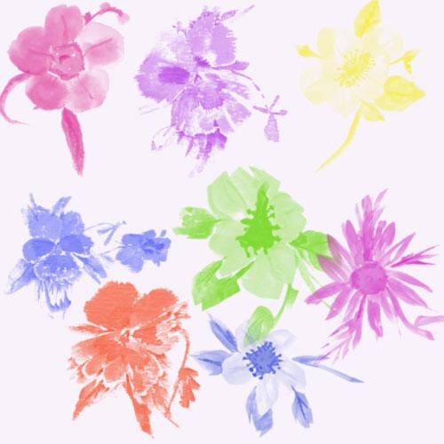 скачать кисти для фотошопа цветы: