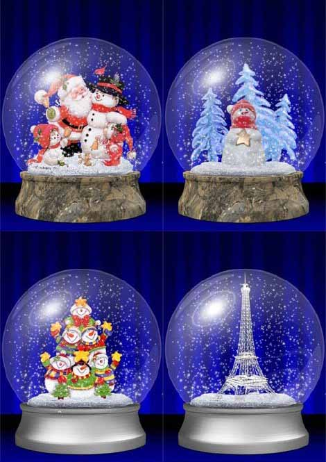 Стеклянные шары со снегом внутри